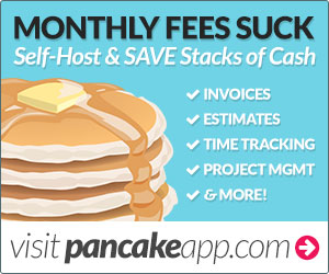 advertisement for pancake app